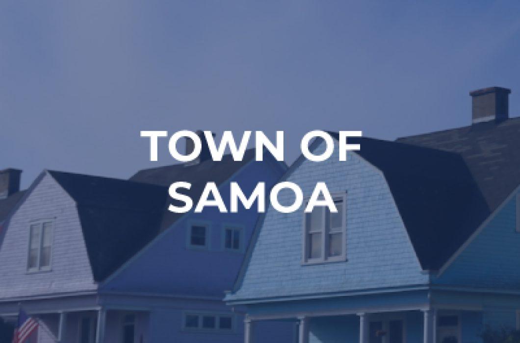 The town of samoa development and renovation